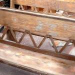 kostelní lavice - před