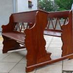 kostelní lavice - po